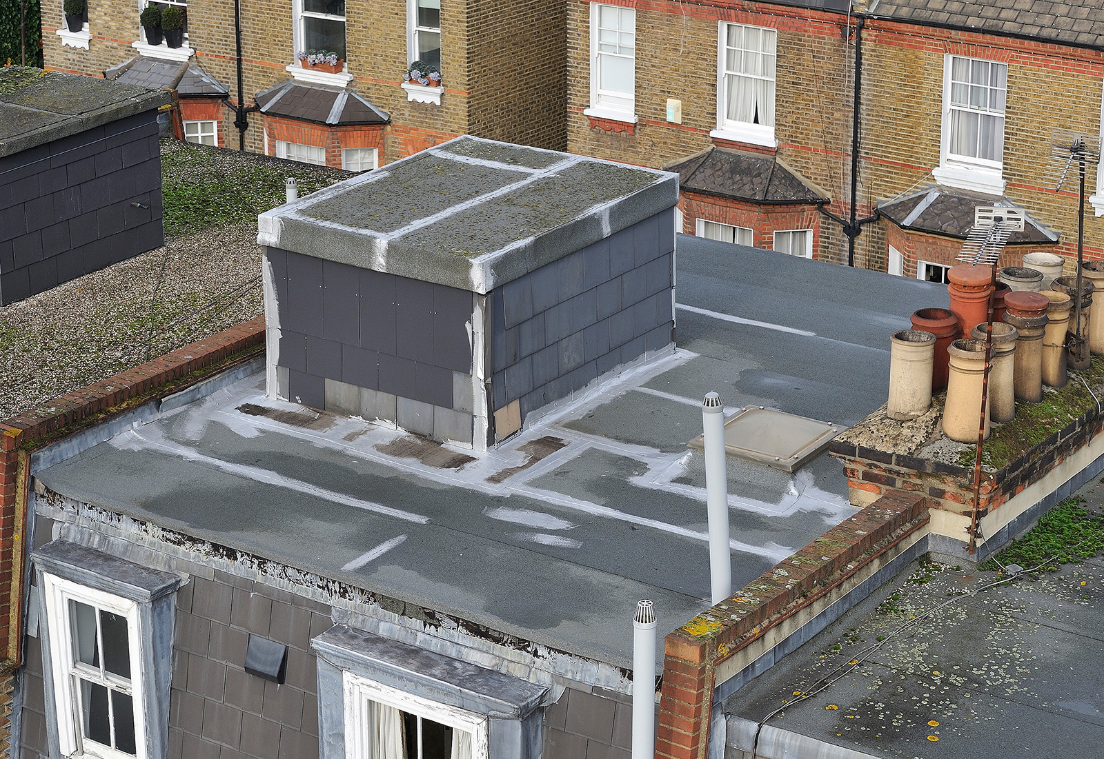 Poor maintence on a flat roof