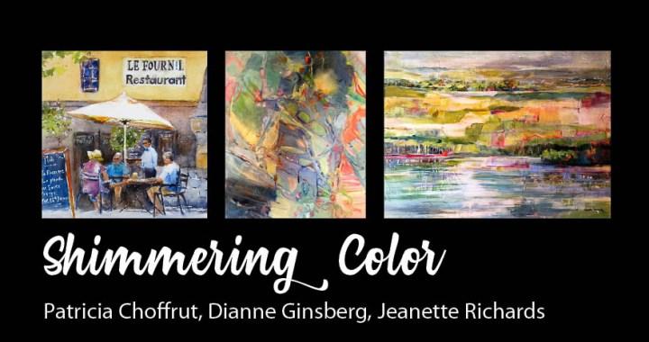 shimmering color postcard
