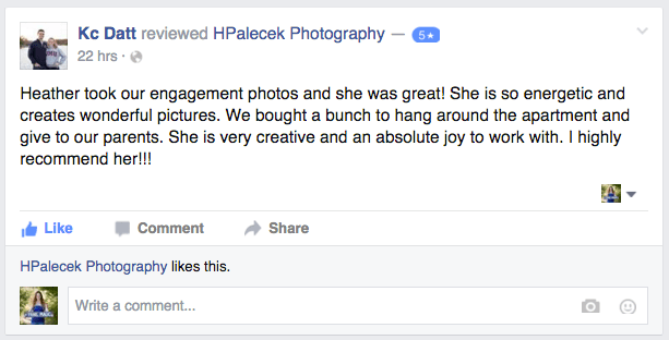 Review of Heather Palecek Photography
