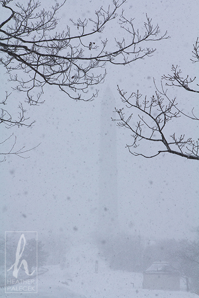 High Point Monument in a Blizzard