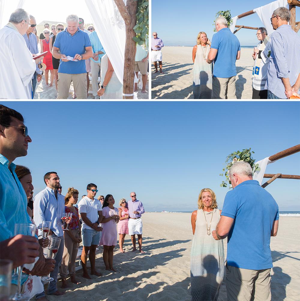 Vow Renewal on the Beach LBI NJ