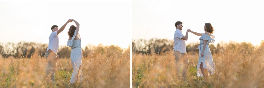 Ewing NJ portraits in a field