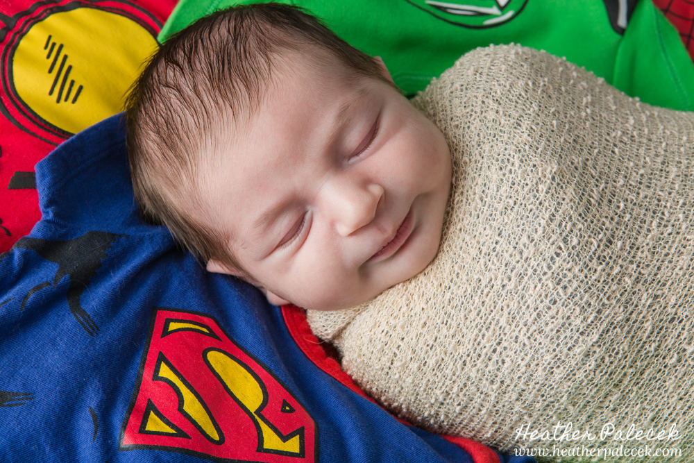 superhero newborn photo