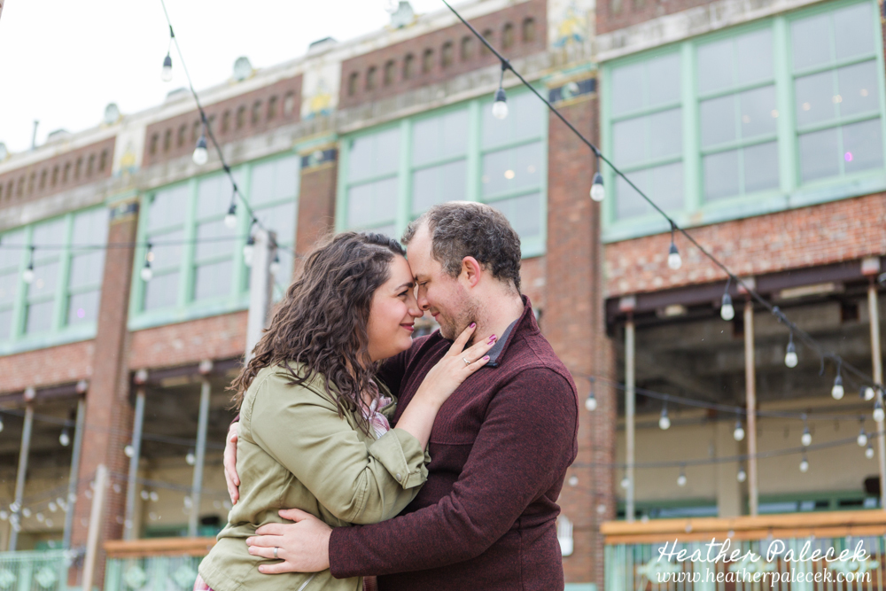 couple in front of asbury park convention hall
