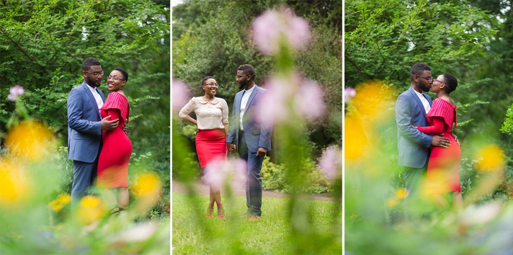 engagement session in garden