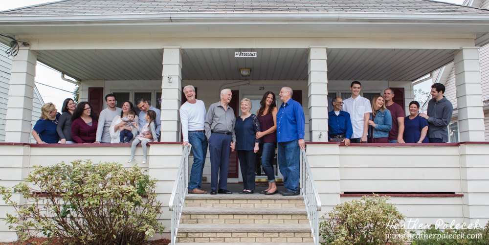 Extended Family Portraits on front porch