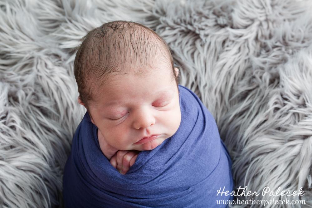 newborn boy in potato pose