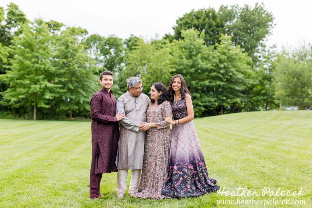 family portrait at sweet sixteen portrait session