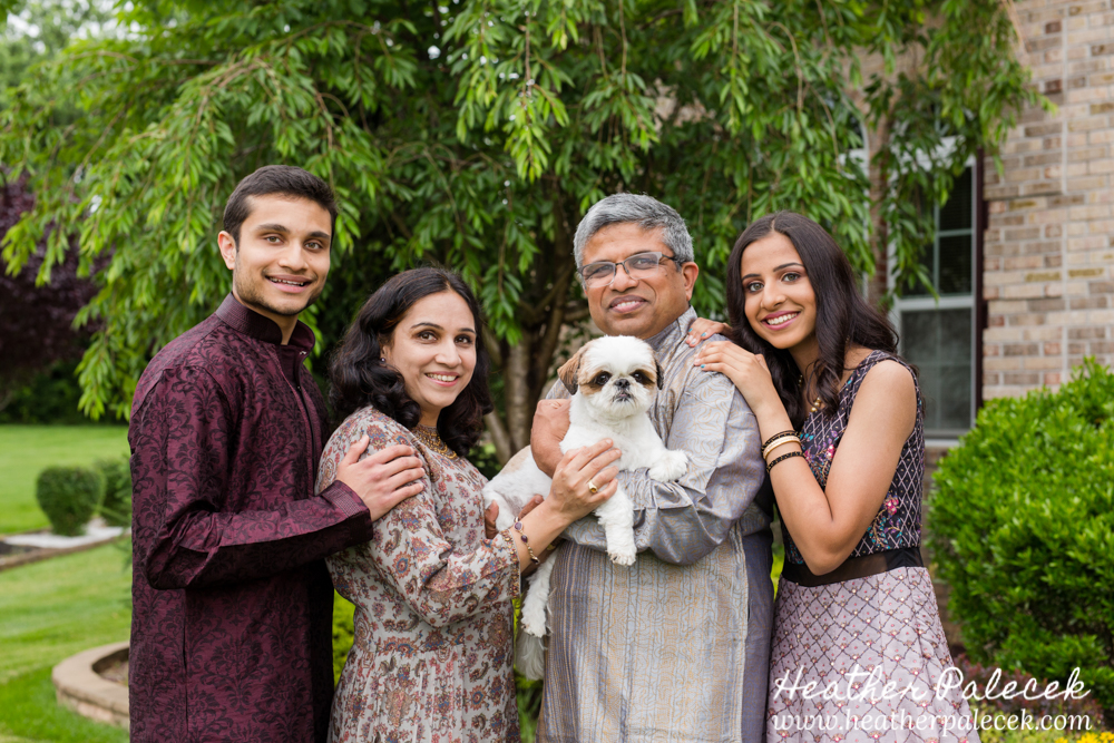 family portrait at sweet sixteen portrait session