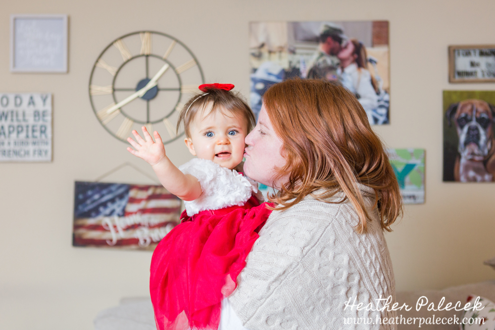 Mom and Daughter Pose in Winter Family Session