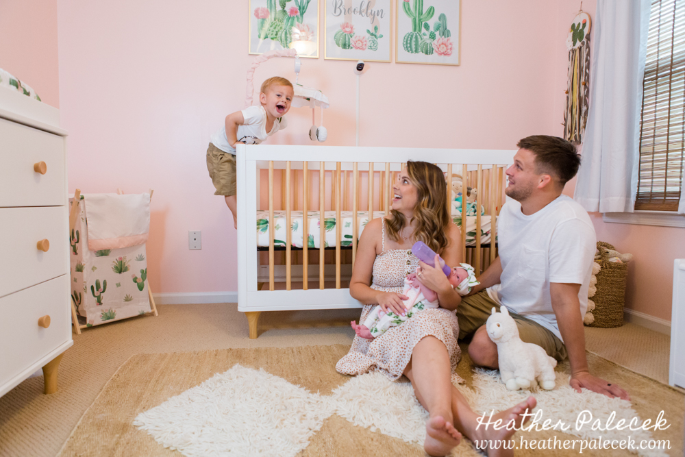 Newborn Girl Lifestyle Session Ewing NJ