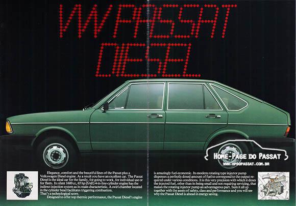 Catálogo do Passat diesel 1982
