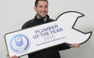 Josh Colbert with his award