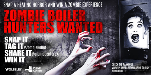 Visit www.plumbpartsmagazine.co.uk/zombieboiler and follow @plumbcenterUK to find out more about the 'Zombie Boiler' campaign