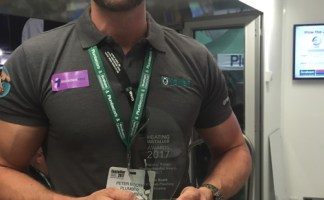 Last year's winner, Peter Booth.