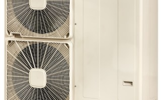 Firebird's Enviroair air source heat pump provides a compact and space saving solution