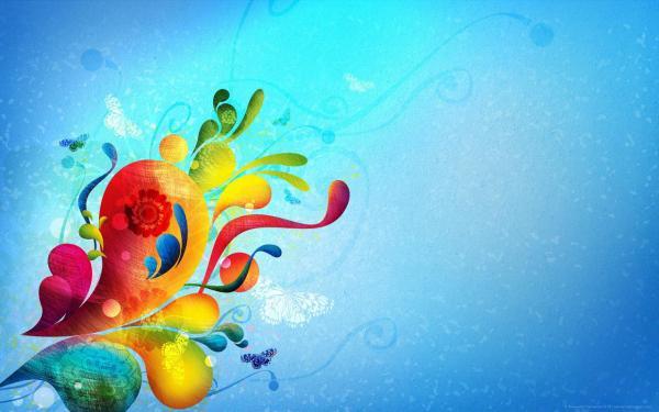 Узор, цветы, бабочки обои для рабочего стола, картинки ...