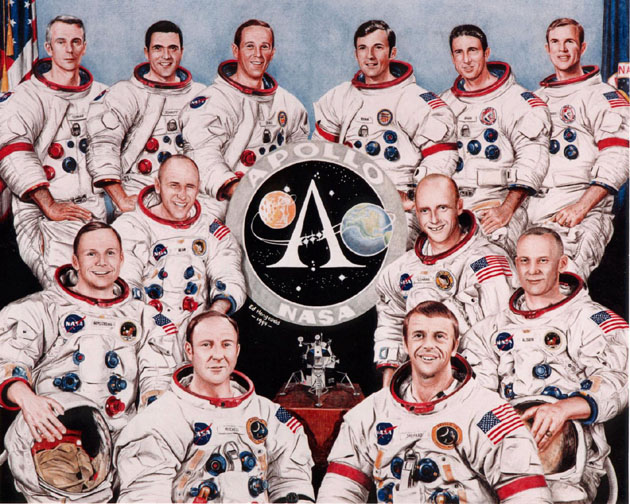 Resultado de imagen para 12 astronautas que han pisado la luna