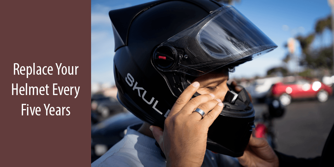 Why should you replace your helmet every five years