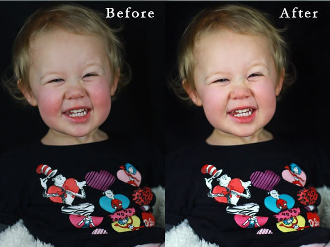 photo retouching before after
