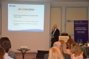 Dr Collins, one of the world's top FUE surgeons lectures at the World FUE Institute conference