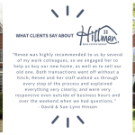 What Clients Say About Hillman Real Estate Group: David and Sue-Lynn Hinson