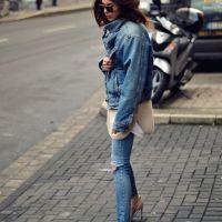 Дънки и обувки с високи токчета - класика