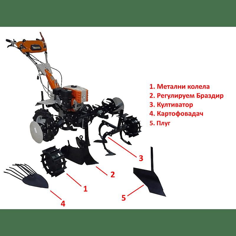 Мотоблок бензинов Gardenia – 1100 Profi