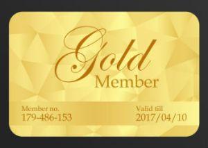 Gold Membership Plastic Card