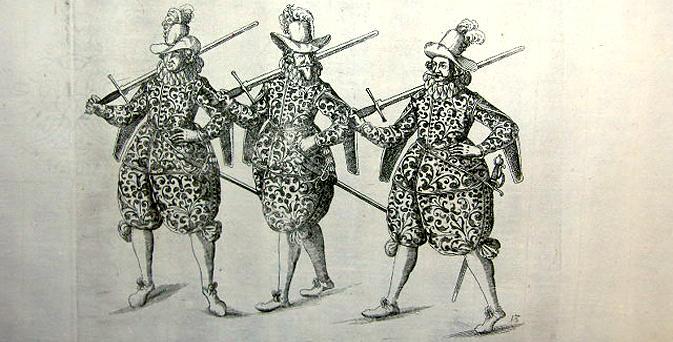 Парад фехтовальщиков изображенные Балтазаром Кухлером / FENCERS PARADING BY BALTHASAR KUCHLER, 1611