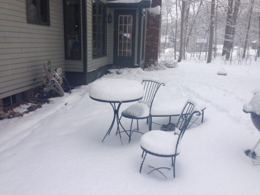 It will be a while before we have drinks on the patio