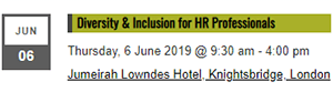 Diversity & Inclusion for HR Professionals