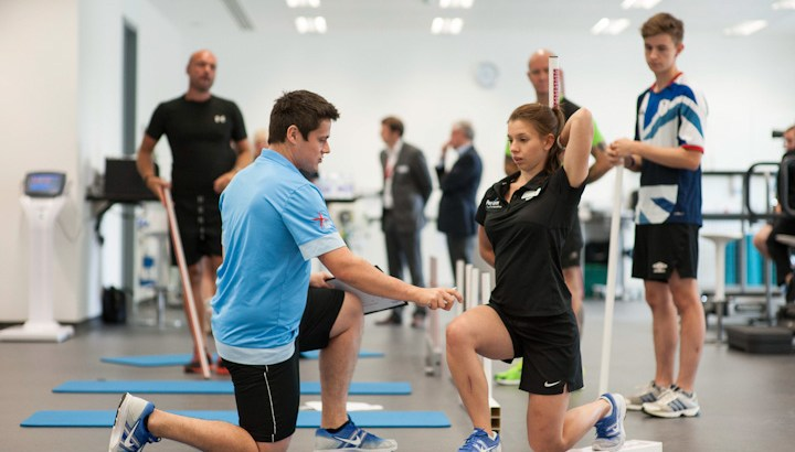The new corporate athlete can train in the facilities used by England's football and rugby teams at Perform at St George's Park