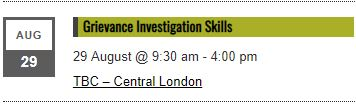 Grievance Investigation Skills Training