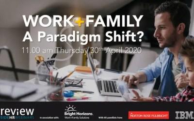 Work+Family: a paradigm shift? – 30/04/2020