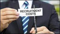 Employers reduced recruitment costs
