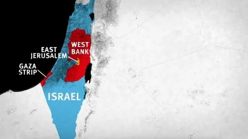 Map of Israel and Occupied Palestinian Territories