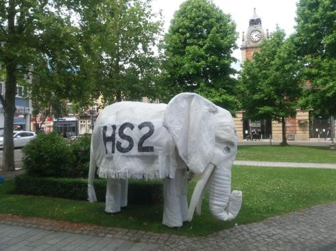 Nelly the Elephant in green space