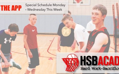 Special Schedule This Week At The Academy!
