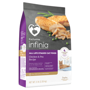 Infinia All Life Stage Chicken & Pea Dry Cat Food
