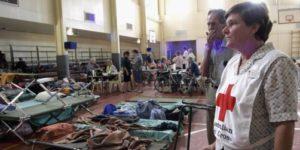 Red Cross Shelter Australia flooding