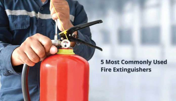 What are The 5 Most Commonly Used Fire Extinguishers