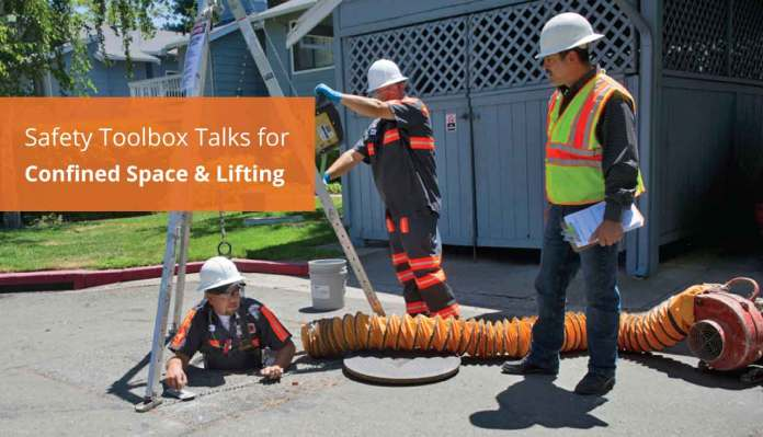 Safety Toolbox Talks for Confined Space & Lifting