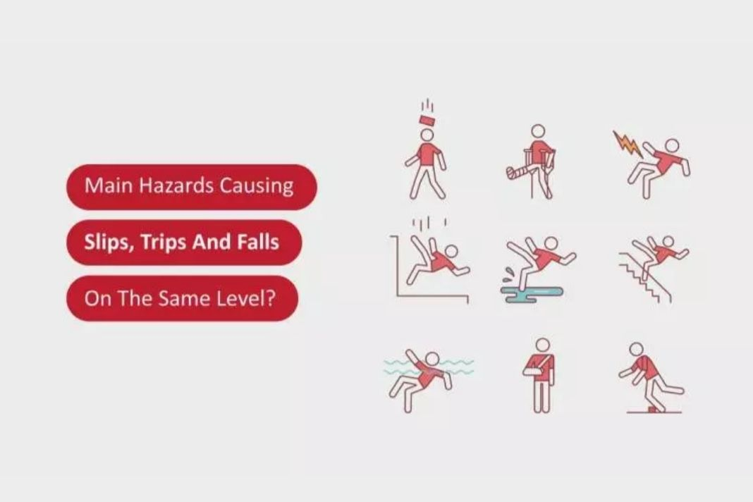 Main Hazards Causing Slips, Trips And Falls On The Same Level