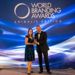 Claire Bass, Executive Director of HSI/United Kingdom, accepts the Global Animalis Edition Brand of the Year - Animal Protection award at the 2019 World Branding Awards by the World Branding Forum