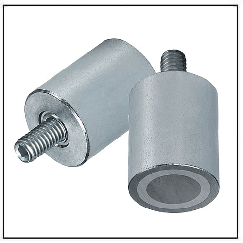 AlNiCo Cylindrical Pot steel body with threaded neck