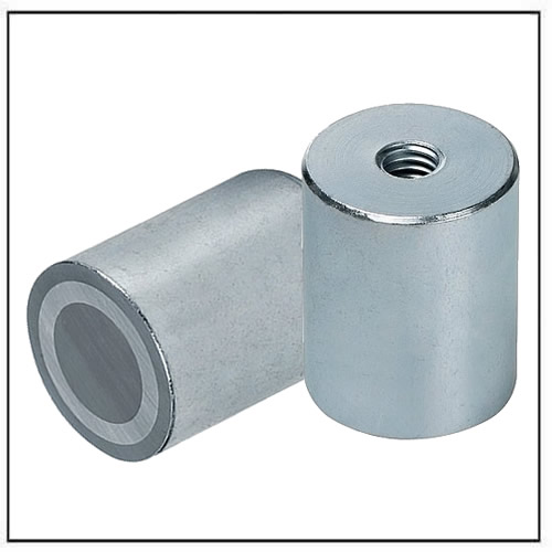 AlNiCo Deep Pot Bar Magnet steel body with internal thread