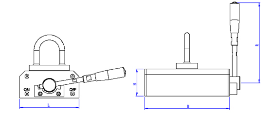 double-circuit-permanent-magnetic-lifter-j-series-drawing