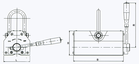 powerful-magnetic-lifter-d-series-drawing