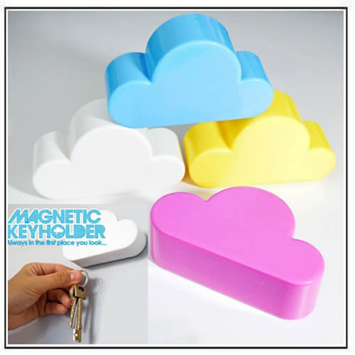 Colour Cloud Shaped Magnetic Key Holder Wall Key Hook Key Chains Hanger